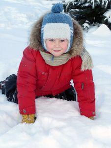 Free The Boy  On The Snow Royalty Free Stock Photos - 17874008