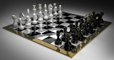 Free Composition With Chess On Chessboard Royalty Free Stock Photography - 17874157