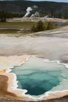 Free Upper Geyser Basin - Yellowstone National Park Stock Photos - 17874613