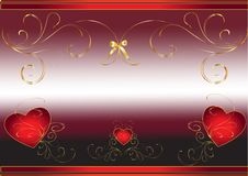 Free Hearts Abstract Background Royalty Free Stock Photos - 17874718