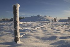Free Snow Cover Fence Stock Photography - 17875072