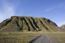 Mountain In A Golden Light At Iceland Stock Image