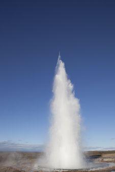 Free Erupting Strokkur Geyser Iceland Stock Photos - 17875743