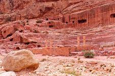 Amphitheatre In Petra, Jordan Stock Photo