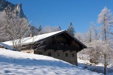 Free Alpine Hut In The Bavarian Alps Stock Photography - 17876362