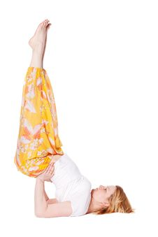 Free Young Woman Doing Yoga Exercise Stock Photography - 17876382