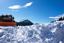 Free Snow Plough With Snow Pile Royalty Free Stock Photo - 17876585