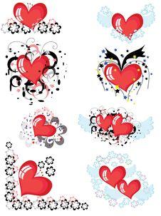 Free Decor With Hearts, CMYK Stock Photos - 17876783
