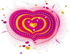 Free Pink Heart For Valentine S Day Royalty Free Stock Images - 17877349