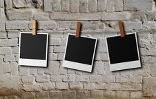 Free Three Instant Photos Frame Stock Images - 17877904