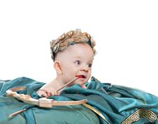 Free Caucasian Baby Boy In A Valentine Fancy Dress Stock Photography - 17878082