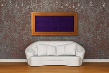 Free White Sofa With Frame Stock Image - 17878121