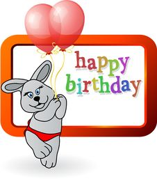 Free Birthday Bunny Stock Photo - 17878890