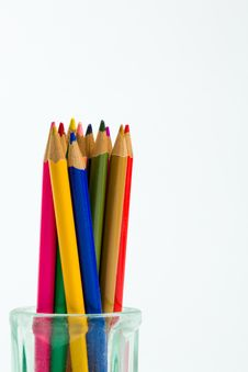 Free Colored Pencils Royalty Free Stock Photos - 17879038