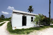 House Destroyed By Hurricane Stock Photo