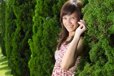 Free Young Beautiful Asian Girl Smiling Royalty Free Stock Image - 17879166