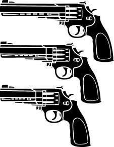 Free Set Of Pistols Royalty Free Stock Photos - 17879188