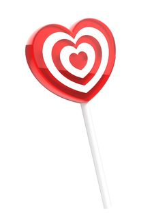 Free Heart Shaped Lollipop Royalty Free Stock Photos - 17879248