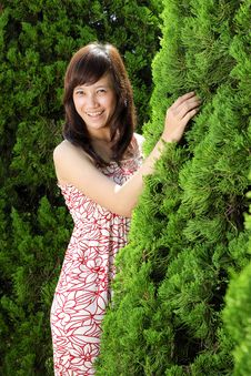 Free Young Beautiful Asian Girl Smiling Stock Image - 17879321