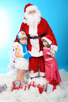 Free Children With Santa Royalty Free Stock Photo - 17879325