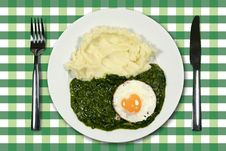Free Spinach With Egg Stock Photo - 17879770