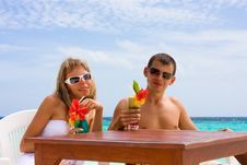 Free Cocktails At The Beach Stock Image - 17879801