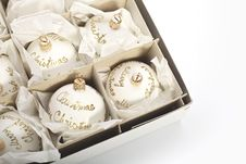 Free White Christmas Balls Stock Image - 17879821