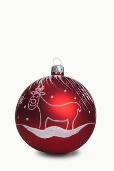Free Red Christmas Bauble Royalty Free Stock Photo - 17879855