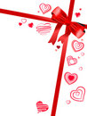 Free Red Bow With Hearts Royalty Free Stock Photo - 17883795