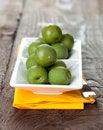 Free Fresh Green Olives On Bowl Stock Photos - 17886403