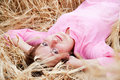 Free Girl Lying In The Field Stock Photo - 17886420