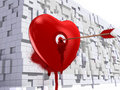 Free Heart With An Arrow On Brick Wall Royalty Free Stock Photography - 17889557