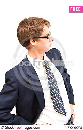 Free Optimist Young Business Man Royalty Free Stock Photo - 17884875