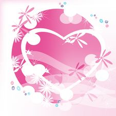 Free Heart On A Pink Background Stock Image - 17880081