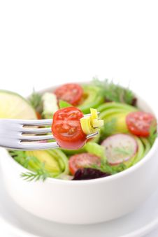 Free Bit Of Salad On The Fork Stock Image - 17880181