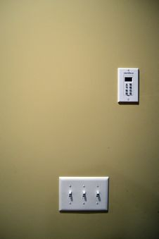 Free Light Switch Panel Royalty Free Stock Photo - 17880775