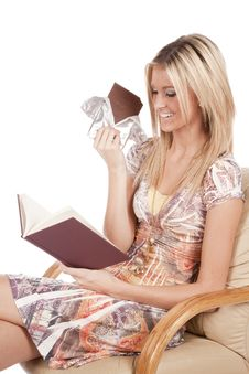 Free Woman Reading With Chocolate Stock Photo - 17880930