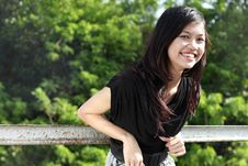 Free Attractive Asian Girl Smiling Royalty Free Stock Image - 17881236