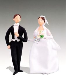 Free Bridal Figurines Royalty Free Stock Photography - 17881617