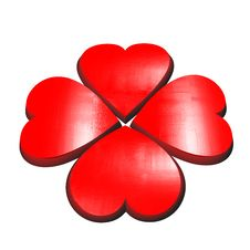 Free Valentines Flower Made Of Red Hearts Royalty Free Stock Images - 17881639