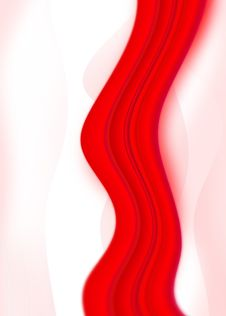 Free Red Abstract Wave Background Stock Images - 17881814