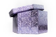 Purple Gift Box Royalty Free Stock Images