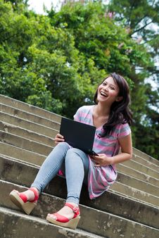 Free Studying In A Park Royalty Free Stock Photography - 17881927
