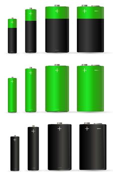 Free Green Battery Royalty Free Stock Images - 17882189