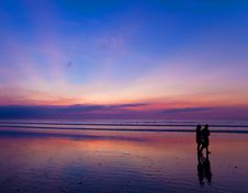 Free Two People At Sunset Stock Image - 17883211