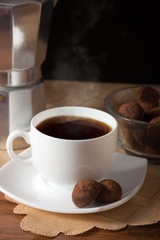 Free Coffee And Truffles Royalty Free Stock Photo - 17883555