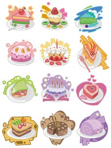 Free Cartoon Cake Icon Royalty Free Stock Images - 17883919