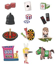 Free Cartoon Casino Icon Stock Photos - 17883923