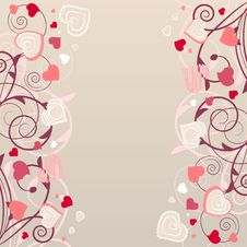 Free Pattern With Red Contour Shapes Stock Photo - 17883980