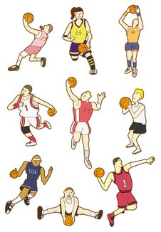 Free Cartoon Basketball Player Stock Photography - 17883982